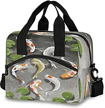 Insulated Lunch Bag Cooler Bag Japanese Carp Fish