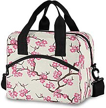 Insulated Lunch Bag Cooler Bag Japanese Floral