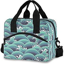 Insulated Lunch Bag Cooler Bag Japanese Sea Large