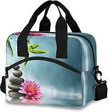 Insulated Lunch Bag Cooler Bag Japanese Zen Bamboo