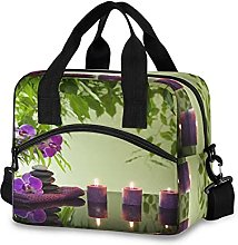 Insulated Lunch Bag Cooler Bag Japanese Zen Stone