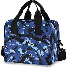 Insulated Lunch Bag Cooler Bag Navy Blue Camo