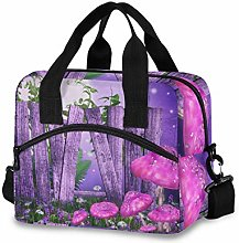 Insulated Lunch Bag Cooler Bag Purple Meadow with