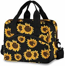 Insulated Lunch Bag Cooler Bag Sunflower Yellow
