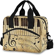 Insulated Lunch Bag Cooler Bag Vintage Music Note