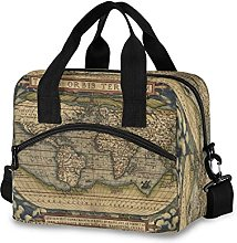 Insulated Lunch Bag Cooler Bag World Map Ancient