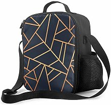 Insulated Lunch Bag Copper Cooler Bag Portable