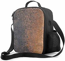 Insulated Lunch Bag Copper Texture Cooler Bag