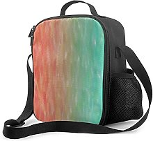 Insulated Lunch Bag Coral & Turquoise Ombre