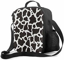 Insulated Lunch Bag Cow Texture Cooler Bag