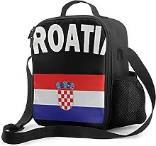 Insulated Lunch Bag Croatian_Flag Lunch Box with