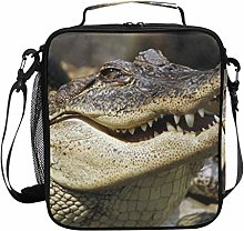 Insulated Lunch Bag Crocodile Head Teeth Lunch Box