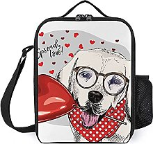Insulated Lunch Bag Cute Dog Lunch Box Portable