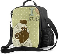 Insulated Lunch Bag Cute Little Dog with Tilted