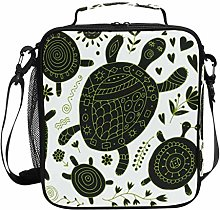 Insulated Lunch Bag Cute Sea Turtles Tortoise