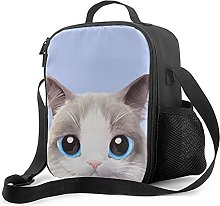 Insulated Lunch Bag Cute with A Cat Motif 2 Lunch