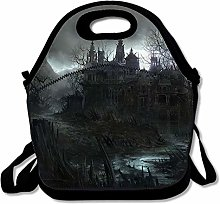 Insulated Lunch Bag Dark House Lunchbox Waterproof