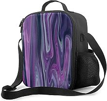 Insulated Lunch Bag DRSC Melted Marble in Purple