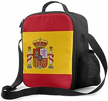Insulated Lunch Bag Flag of Spain Cooler Bag