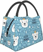 Insulated Lunch Bag for Men Women Cute Bear and