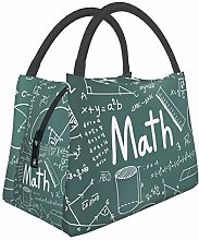 Insulated Lunch Bag for Men Women Math Theory and