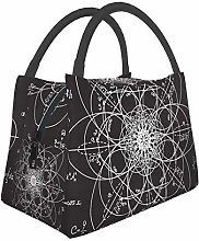 Insulated Lunch Bag for Men Women Scientific Math