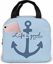 Insulated Lunch Bag for Women Men Nautical Quotes
