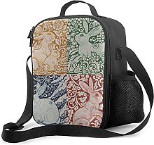 Insulated Lunch Bag Four Seasons Rabbits Art Deco