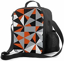 Insulated Lunch Bag Geometric Bold Retro Funky