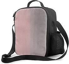 Insulated Lunch Bag Gradient Watercolor Pink Gray