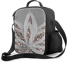 Insulated Lunch Bag Gray Agave Cooler Bag Portable