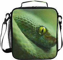 Insulated Lunch Bag Green Mamba Snake Animal Lunch