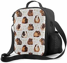 Insulated Lunch Bag Guinea Pigs Cooler Bag