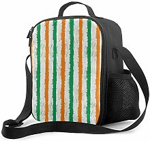Insulated Lunch Bag Irish Stripes Cooler Bag