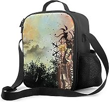 Insulated Lunch Bag Kingdom Hearts Lunch Box with