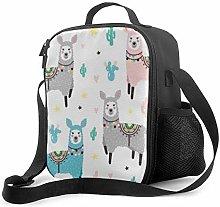 Insulated Lunch Bag Lama Cactus Cooler Bag