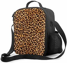 Insulated Lunch Bag Leopard Cooler Bag Portable