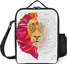 Insulated Lunch Bag Lion Geometric Lunch Box