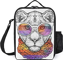 Insulated Lunch Bag Lion Lunch Box Portable Tote