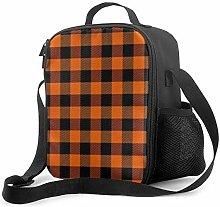 Insulated Lunch Bag Lumberjack Plaid Scottish