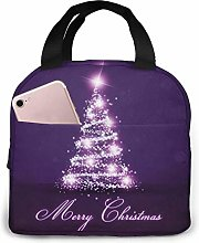 Insulated Lunch Bag Lunch Kit, Purple Merry