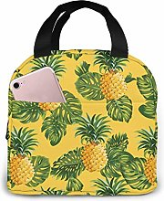 Insulated Lunch Bag Lunch Kit, Yellow Pineappple