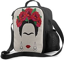Insulated Lunch Bag Mexican Woman Lunch Box with