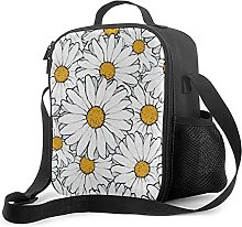 Insulated Lunch Bag Modern Chic Ornate Daisy