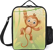 Insulated Lunch Bag Monkey Brown Lunch Box
