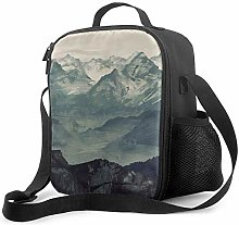 Insulated Lunch Bag Mountain Fog Cooler Bag