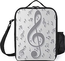 Insulated Lunch Bag Musical Notes Lunch Box