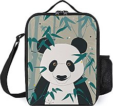 Insulated Lunch Bag Natural Panda Lunch Box