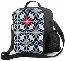 Insulated Lunch Bag Nordic Star Navy Red