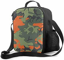 Insulated Lunch Bag Orange Green Black Hunting